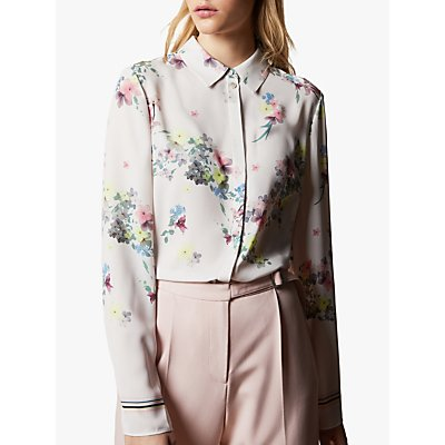 Ted Baker Aadele Pergola Floral Blouse, Natural Ivory