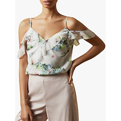Ted Baker Meeyah Floral Print Cami Top, Ivory