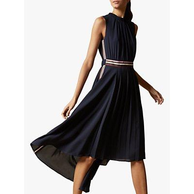 Ted Baker Damsia Sleeveless Dip Hem Midi Dress, Navy