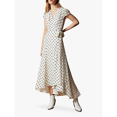 Ted Baker Cohline Polka Dot Print Maxi Wrap Dress, Ivory