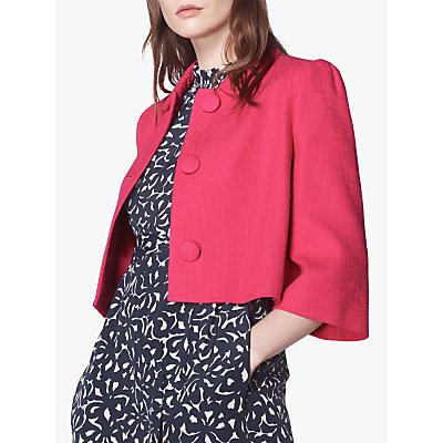 L.K.Bennett Rea Cropped Jacket, Bright Pink
