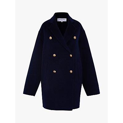 Gerard Darel Regina Wool Coat, Navy