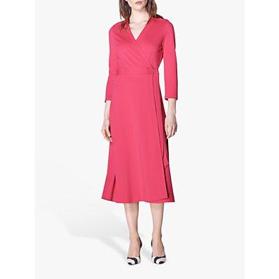 L.K.Bennett Juno Wrap Dress, Raspberry Pink