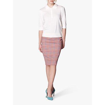 L.K.Bennett Eunice Prince of Wales Check Pencil Skirt