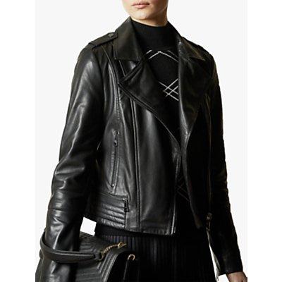 Ted Baker Idda Leather Biker Jacket