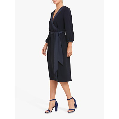 Helen McAlinden Una Wrap Dress, Navy