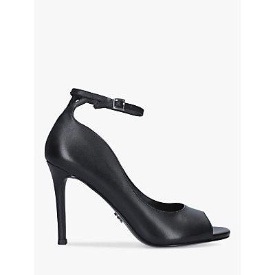 Sam Edelman Danielle Leather Peep Toe Court Shoes, Black