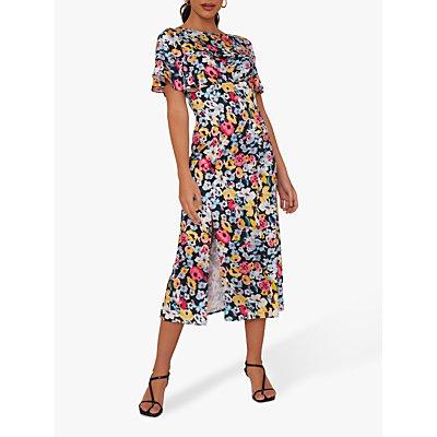 Chi Chi London Benilda Floral Print Dress, Black/Multi