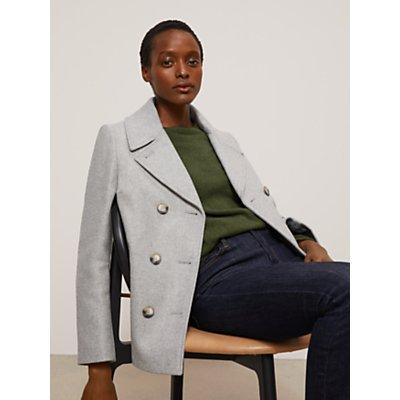 John Lewis & Partners Twill Wool Blend Peacoat