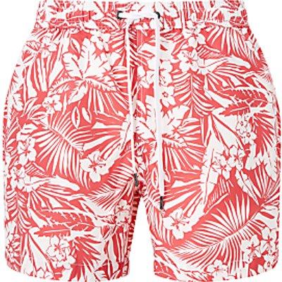 Onia Charles Riviera Palm Print 5 Swim Shorts, Red