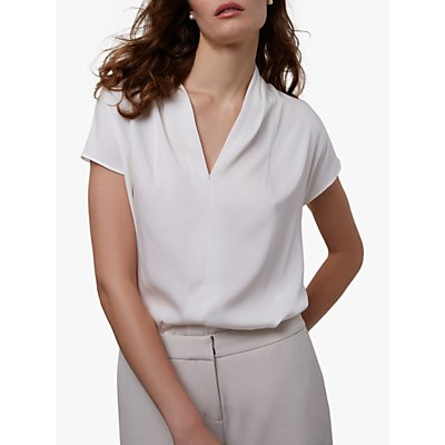 Winser London V-Neck Top, Ivory