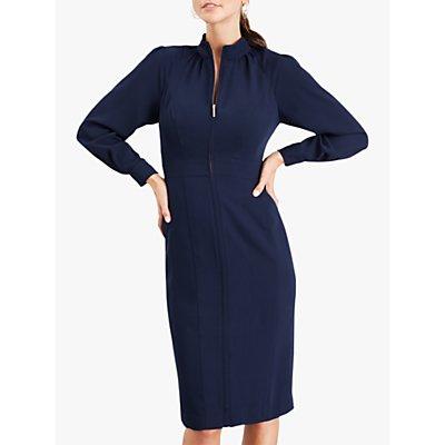 Damsel in a Dress Cinzia Zip Front Dress, Navy