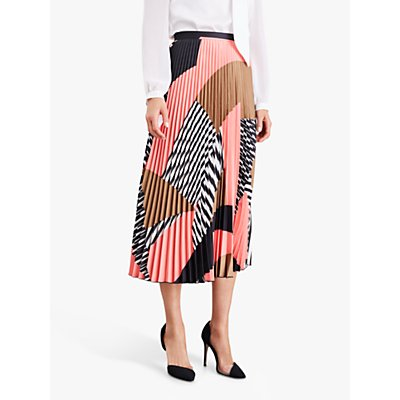 Damsel in a Dress Ariyah Pleated Abstract Print Skirt, Multi
