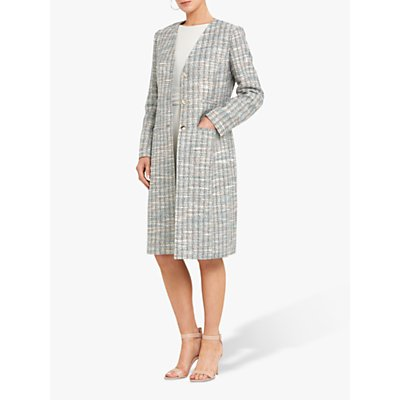 Helen McAlinden Kriss Tweed Knee Length Coat, Multi