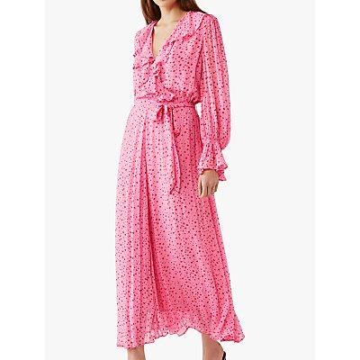 Ghost Su Heart Pattern Dress, Pink