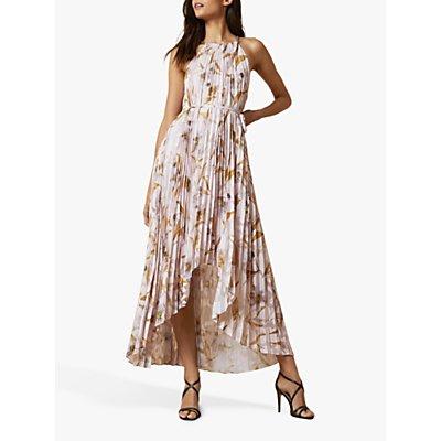 Ted Baker Dixxie Cabana Pleated Maxi Dress, Light Pink