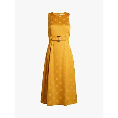Ted Baker Innabel Polka Dot Print Sleveless Dress, Mid Yellow