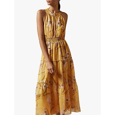 Ted Baker Saffine Floral Print Maxi Dress, Yellow