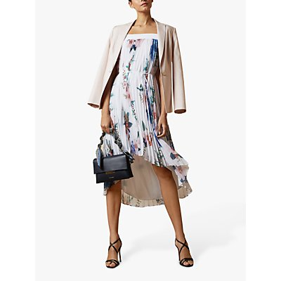 Ted Baker Luner Floral Midi Dress, White