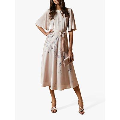 Ted Baker Erla Bouquet Midi Dress, Light Pink