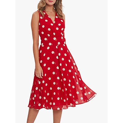 Gina Bacconi Saphira Polka Dot Dress