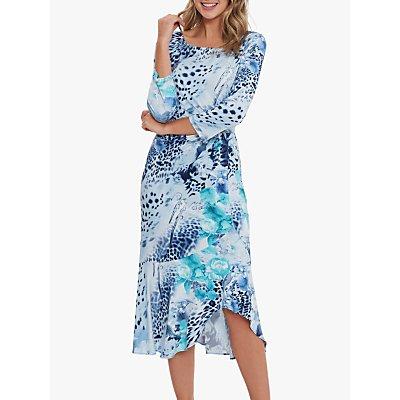 Gina Bacconi Moira Jersey Dress, Turquoise