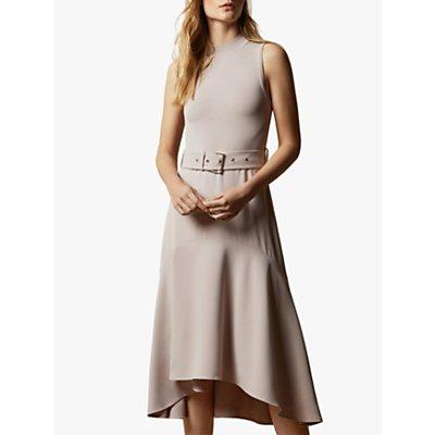 Ted Baker Corvala Sleeveless Midi Dress, Light Pink