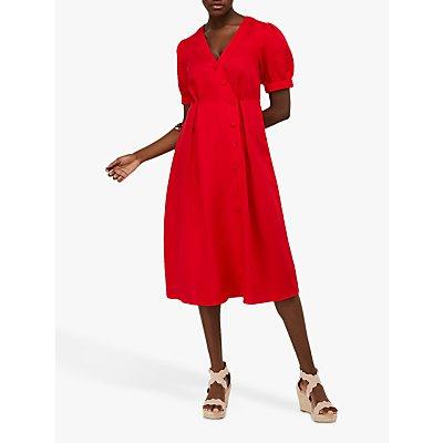 Monsoon Terra Tea Dress, Red