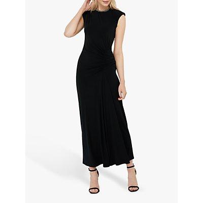 Monsoon Melissa Beaded Neckline Maxi Dress, Black
