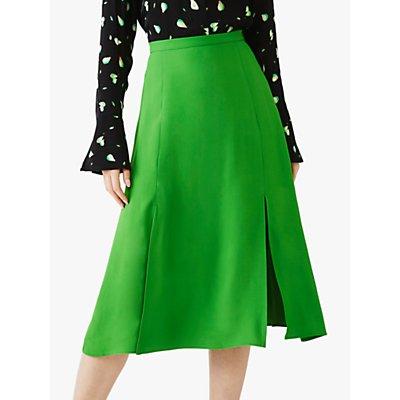 Ghost Gemma Satin Midi Skirt, Bright Green