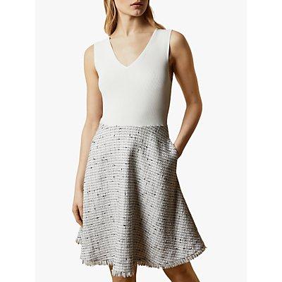 Ted Baker Adalad Tailored Dress, Ivory