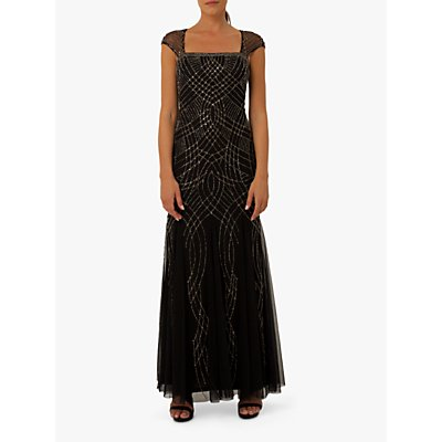 Raishma Lola Embellished Gown, Black