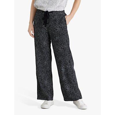 Fenn Wright Manson Petite Ninette Spotted Trousers, Black/Ivory