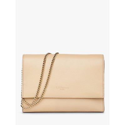 L.K.Bennett Marcella Flap Over Leather Clutch Bag