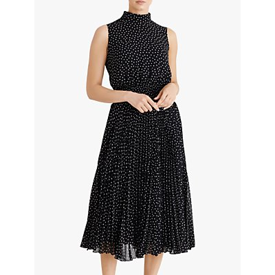 Fenn Wright Manson Dorothee Spotted Midi Dress, Navy/Spots