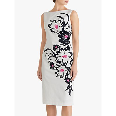 Fenn Wright Manson Laurentine Floral Print Midi Dress, Petunia Placement