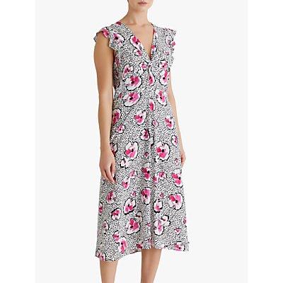 Fenn Wright Manson Suzanne Floral Midi Dress, Pink Petunia