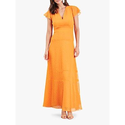 Damsel in a Dress Evadine Embroidered Maxi Dress, Orange