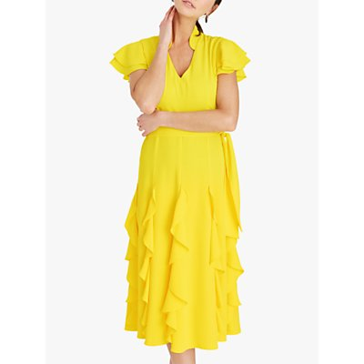 Damsel in a Dress Cemile Frill Midi Dress, Yellow