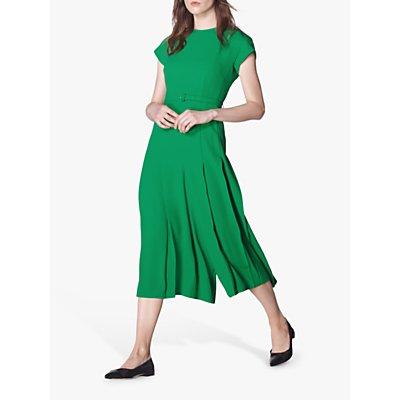 L.K.Bennett Manon Belted Jumpsuit, Bright Green