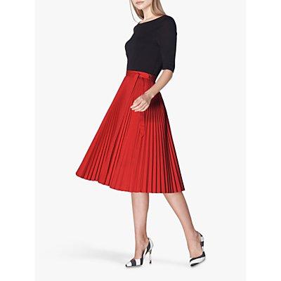 L.K.Bennett Patti Pleated Skirt, Bright Red