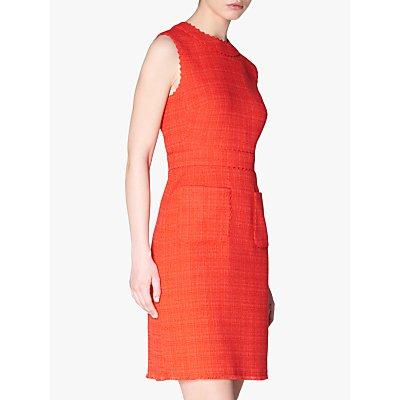 L.K.Bennett Lucca Textured Dress, Bright Red