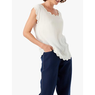 Brora Embellished Silk Shell Blouse