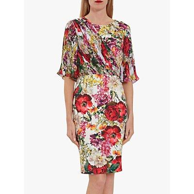 Gina Bacconi Hilda Floral Chiffon Dress, Multi