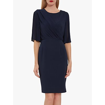 Gina Bacconi Wilhelmina Chiffon Pleated Dress