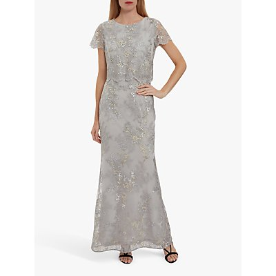 Gina Bacconi Drew Embroidered Maxi Dress