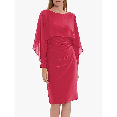 Gina Bacconi Olma Jersey Midi Dress, Wow Pink