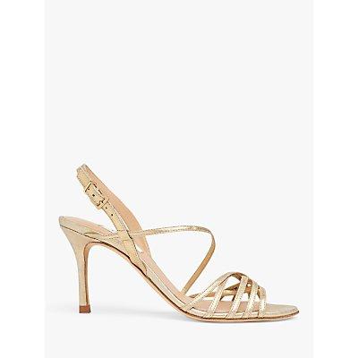 L.K.Bennett Naja Stiletto Leather Sandals, Gold