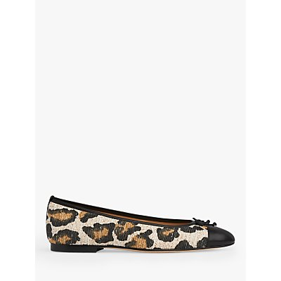 L.K.Bennett Kara Toe Cap Leopard Print Ballerina Flats, Multi