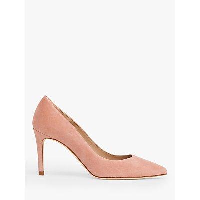 L.K.Bennett Floret Suede Stiletto Heel Court Shoes, Pink Clay